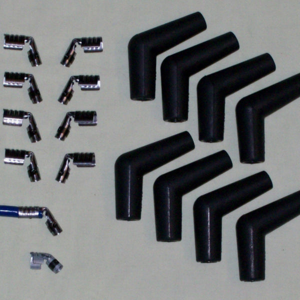 8 Ignition Spark Plug Rubber Boot Kit Terminals 45 / 135 Degree Quality Boots Ht