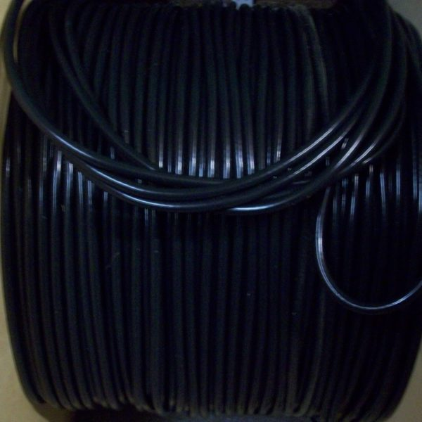 Black 8mm Extra Long Ignition Lead Coil 1 Meter Ht Cars From  50s 70s And More