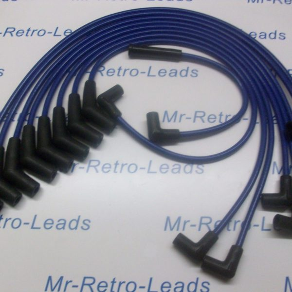 Blue 8.5mm Performance Ignition Leads For Ford Mustang V8 Cougar 65>73 Hei Cap