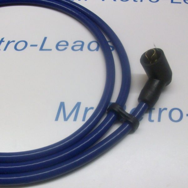 Blue 8mm Performance Ignition Coil Lead Cars From  50s  70s 1.5 Meters Long Ht