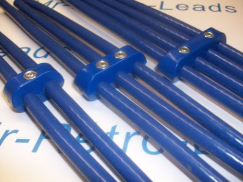 Blue 8mm Performance Ignition Lead Kit Holders Numbers 3 Meters Of Lead Kit Cars