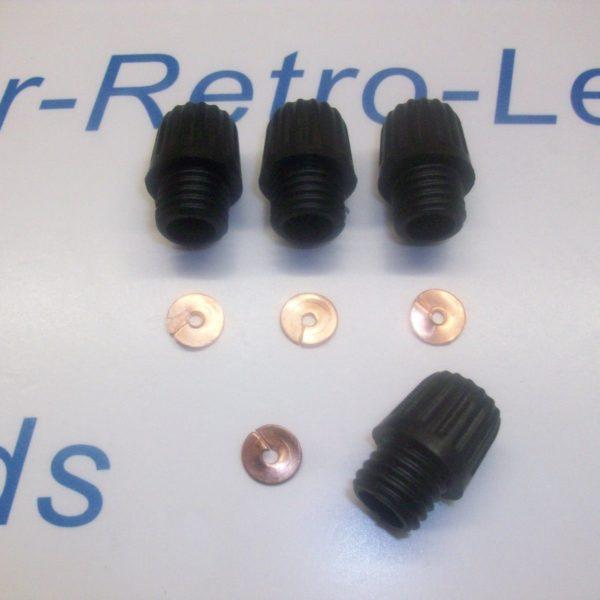 Distributor Acorn Screw In Terminals 4 Brass Split Washers 4 1930-60s Lucas Ht