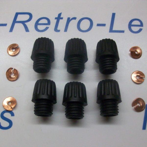 Distributor Acorn Screw In Terminals 6 Brass Split Washers 6 1930-60s Lucas Ht
