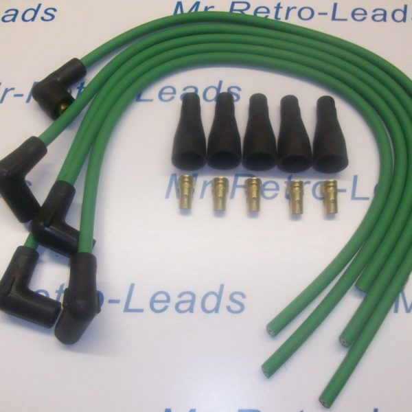 "Green 8mm Performance Ignition Lead Kit For 4 Cyl 90""degree Spark Ht... Kit Car"