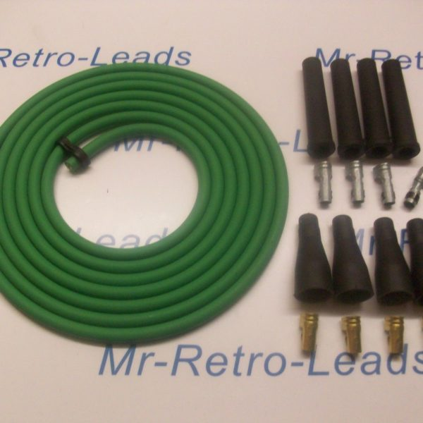 Green 8mm Performance Ignition Lead Kit For 4 Cyl 3 Meters Ht Kit Cars Quality