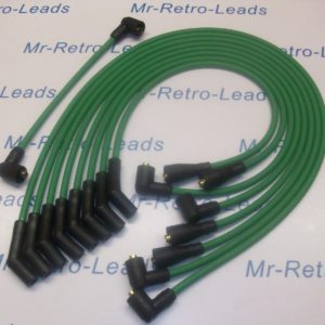 Green 8mm Performance Ignition Leads For Triumph Stag Rover 3.0 V8 Quality Leads