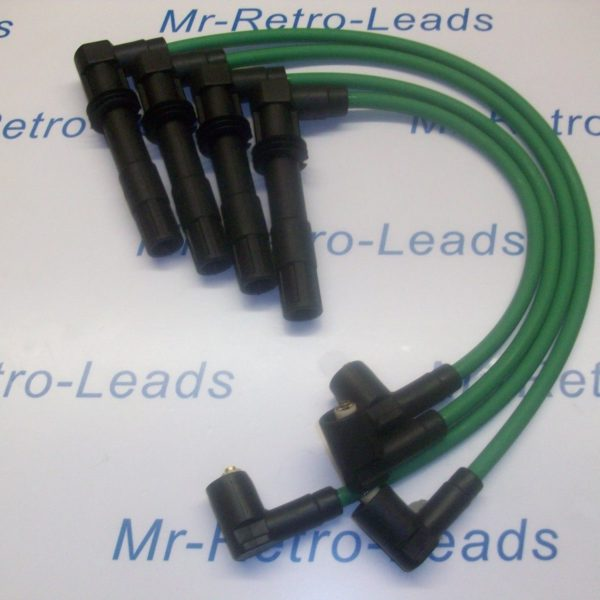 Green 8mm Performance Ignition Leads Vw Golf Bora 1.6 1.4 16v Quality Ht Leads