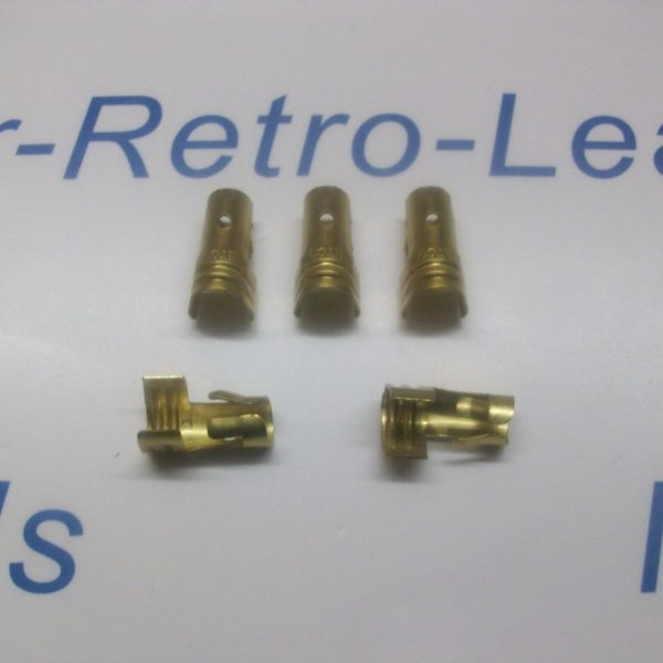 Ignition Lead Distributor Brass Terminal X 5 Ht Straight  Push In Type 8mm 7mm