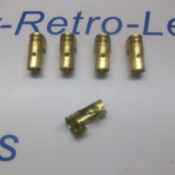 Ignition Lead Distributor Brass Terminals X 5 Ht Straight Push In Type 7mm Lucas