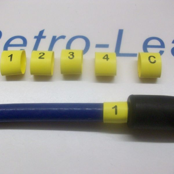 Ignition Lead Plug Numbers 1 / 4 Heat Shrink Ht Lead Black On Yellow 1 / 4 And C