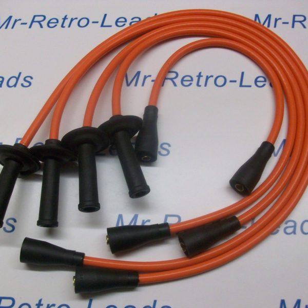 Orange 8mm Ignition Leads Fits  Vw Transporter Camper T1 T2 Bus Air Cooled 1600