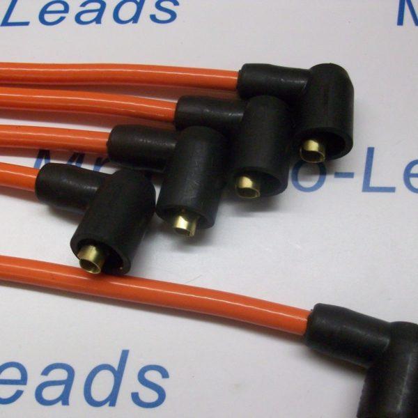 Orange 8mm Ignition Leads To Fit. Robin Reliant Regal Fox Kitten Bond Bug Rialto