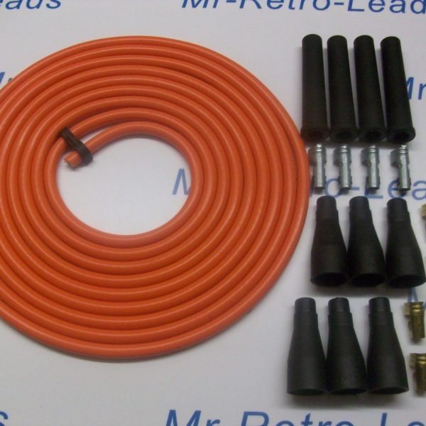 Orange 8mm Performance Ignition Lead Kit For The 4 Cly 3 Meters Kit Car Quality.