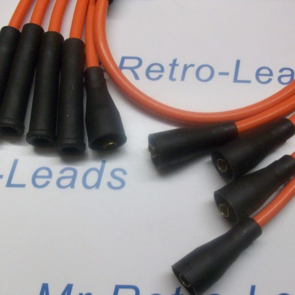 Orange 8mm Performance Ignition Leads For Ford Sierra Fiesta 1.3 1.6 1.8 2.0 Ht