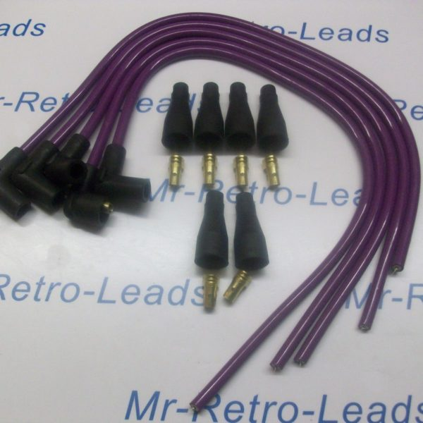 """Purple 8mm Performance Ignition Lead Kit Suitable For 4 Cyl 90""""degree Spark Ht.."""