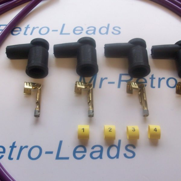 Purple 8mm Performance Ignition Lead Kit Ford Silver Top Kit-car Part Built Ht