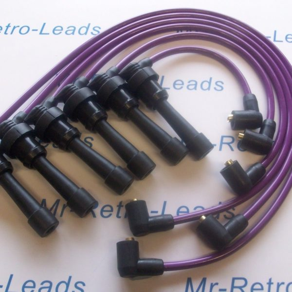Purple 8mm Performance Ignition Leads For Mitsubishi 3000 Gt Diamante Quality Ht