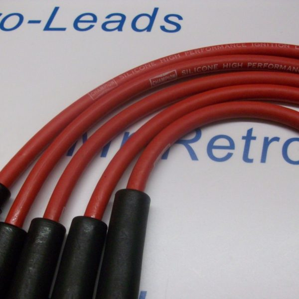 Red 7mm Performance Ignition Leads Triumph Tr3 Tr4 Tr4a Champion Ht Quality Lead