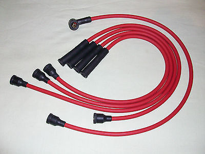 Red 8mm Performance Ignition Leads Escort Mk1 2 Mexico 1.6 Sport Capri Mk1 Ht