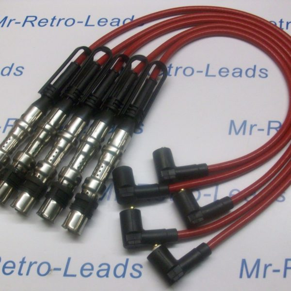 Red 8mm Performance Ignition Leads For Vw Golf 2.3 V5 4 Motion Quality Aqp Aue