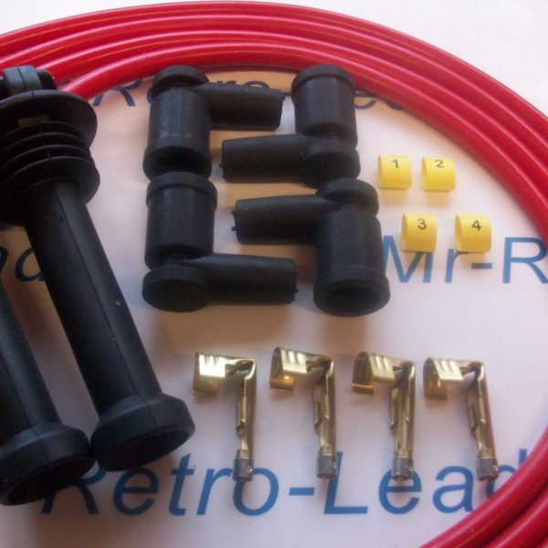 Red 8mm Performance Ignition Lead Kit Ford Zetec Black Top Kit-car Part Built Ht