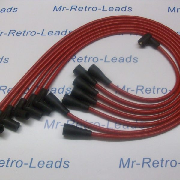Red 8mm Performance Ignition Leads Will Fit Jaguar E Type Xj6 Xk 6 Cyl Quality.
