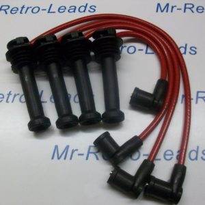 Red 8mm Performance Ignition Leads Will Fit Ford Focus Fiesta Mondeo Quality Ht,