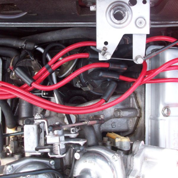 Red 8mm Performance Ignition Leads Triumph Stag Rover 3.0 V8 Quality Hand Built