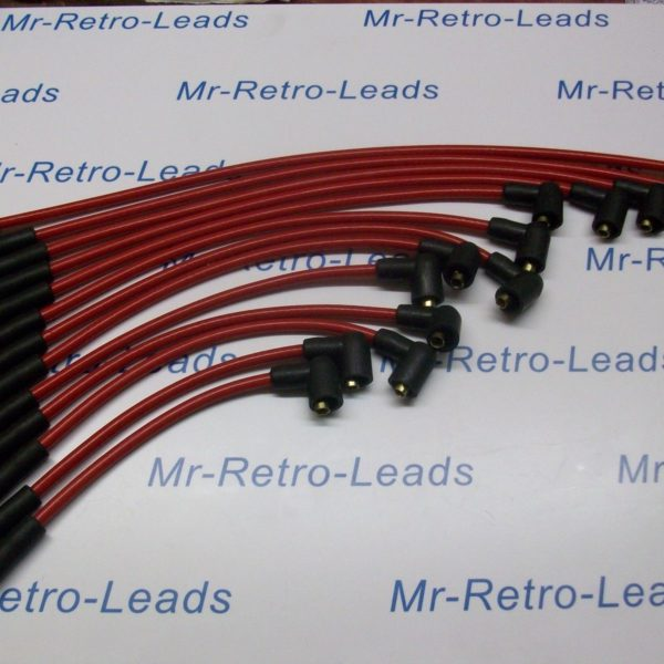 Red 8mm Performance Ignition Leads Will Fit Jaguar Daimler V12 Quality Ht Leads.