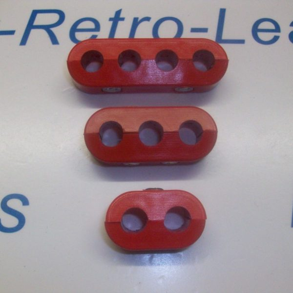 Red 8mm Spark Plug Ignition Lead Separator Holder Clamp Spacer Separator Kit
