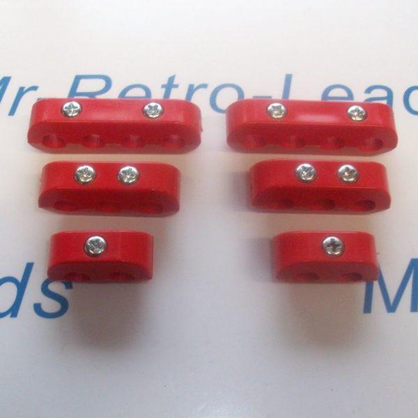 Red 8mm Spark Plug Ignition Lead Separator Holder Clamp Spacer For The V8 Cars