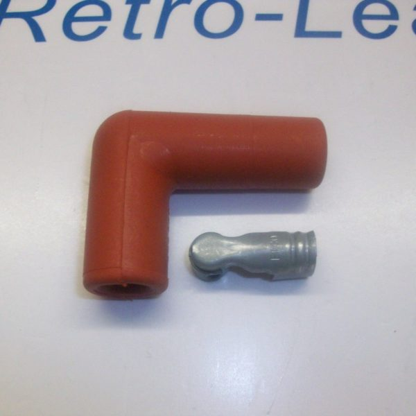 "Red 90"" Degree Ignition Lead Spark Plug Boot Fitting 90"" Spark Plug Terminal"