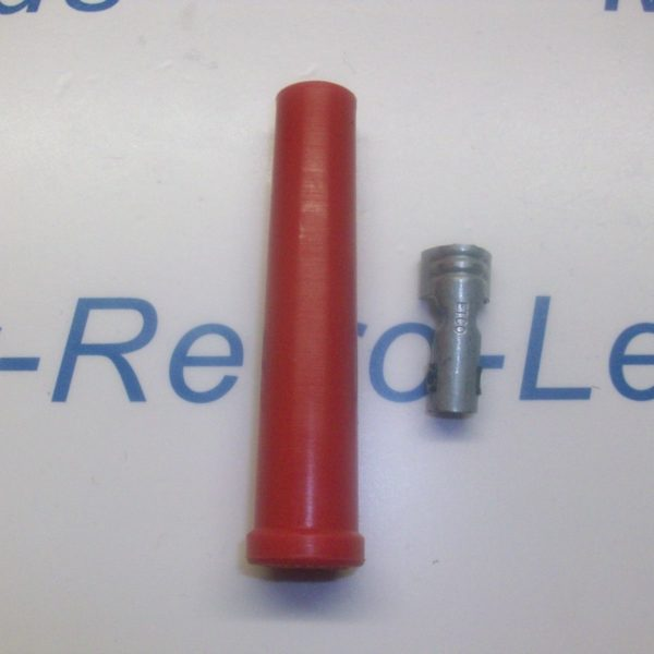 Red Ignition Lead Spark Plug Boot Terminal Silicone Fitting Boot Straight 7/8mm