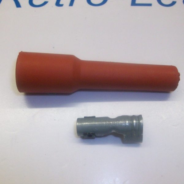 Retro Red Ignition Spark Plug Rubber Boot & Terminal X 1 Nos Look Quality...