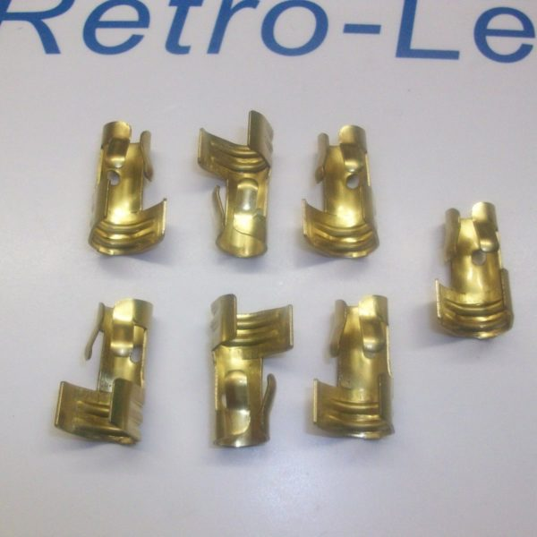 Straight Push In Type Ignition Lead Distributor Brass Terminal X 7 Ht 8mm 7mm