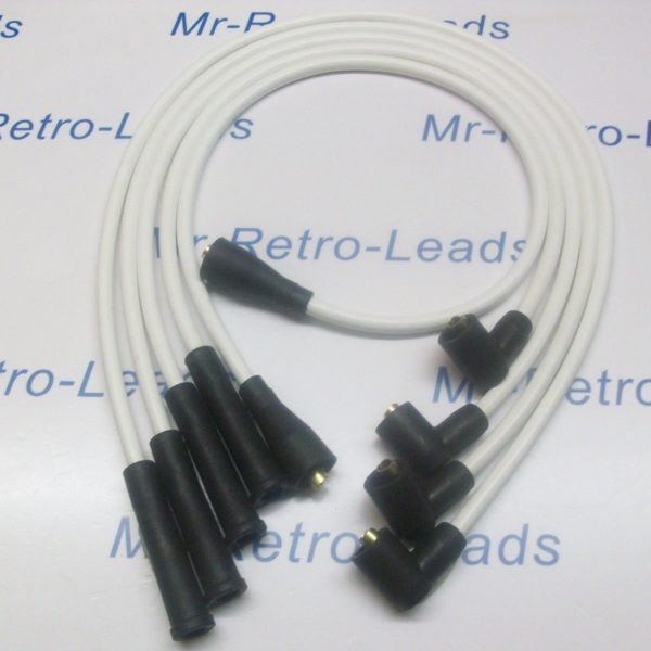White 8mm Performance Ignition Leads Escort Series 2 / Phase 2 Rs Turbo Quality