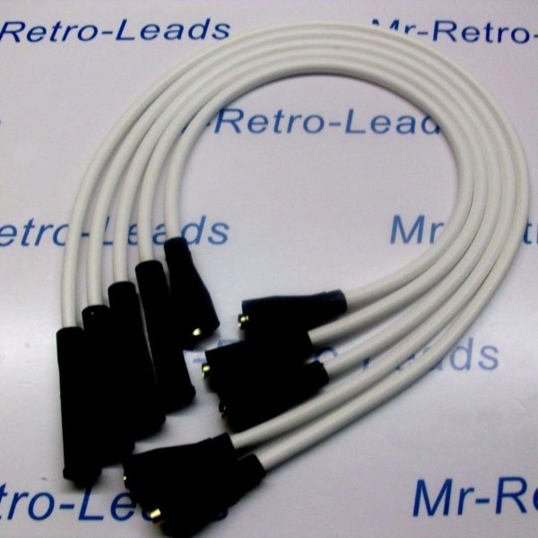 White 8mm Performance Ignition Leads To Fit. Ford Capri 1.6 2.0 Ohc Cortina P100