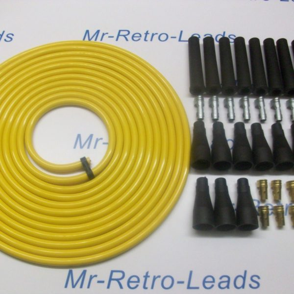 Yellow 8mm Performance Ignition Lead Kit For The V8 8cly 6 Meters Kit Car Qualit
