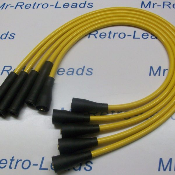 Yellow 8mm Performance Ignition Leads To Fit. Ford Escort Mk2 Mk3 Fiesta Mk1 Mk2