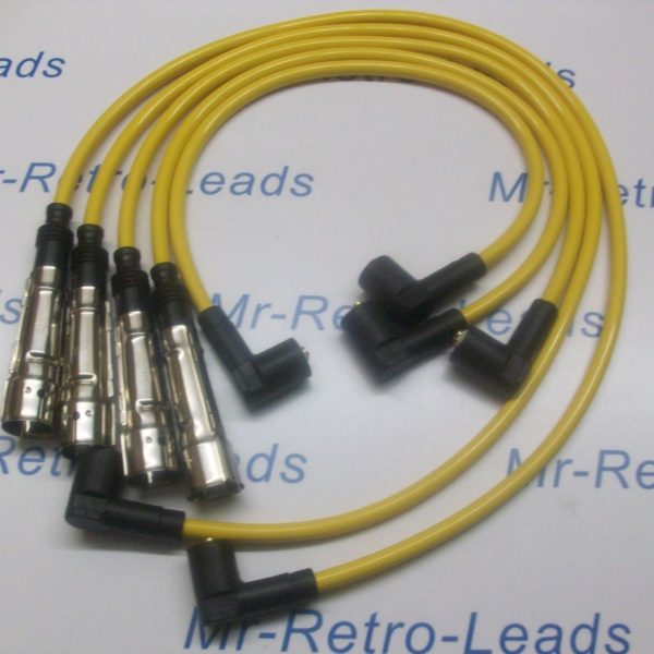 Yellow 8mm Performance Ignition Leads For Vw Transporter Box 2.0 T25 Camper..