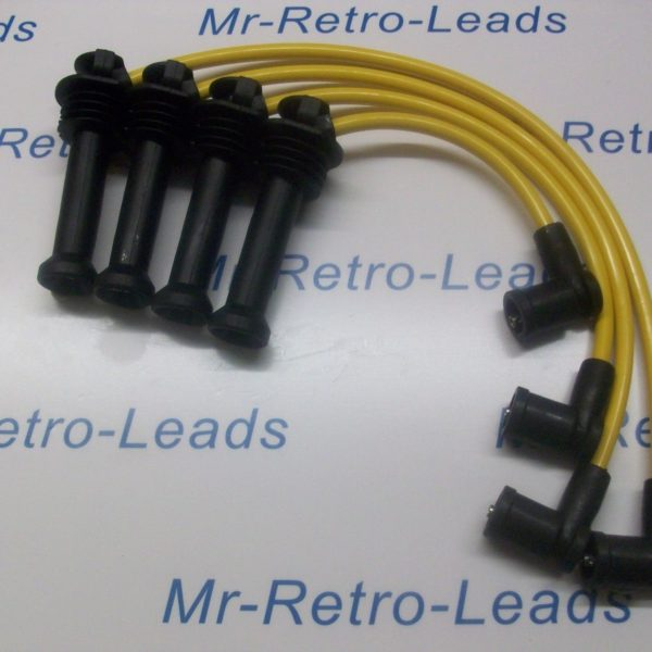 Yellow 8mm Performance Ignition Leads For Mazda Tribute Suv Quality Ht Leads