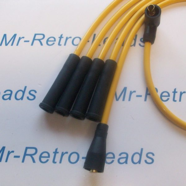 Yellow 8mm Performance Ignition Leads For Triumph Tr7 Early Type Quality Leads