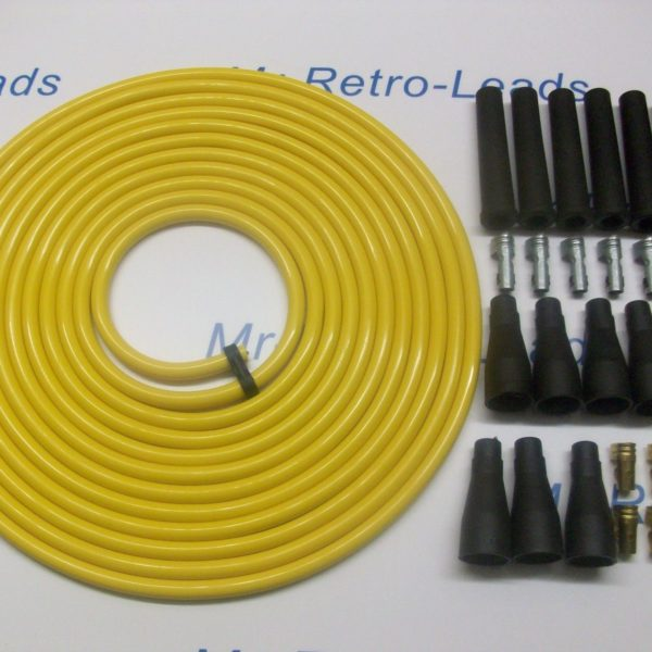 Yellow 8mm Performance Ignition Lead Kit For V6 Cly 4 Meters Kit Car Quality Ht