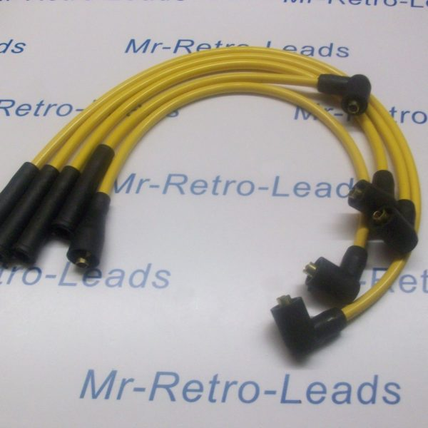 Yellow 8mm Performance Ignition Leads For Opel Manta Quality Hand Built Leads Ht