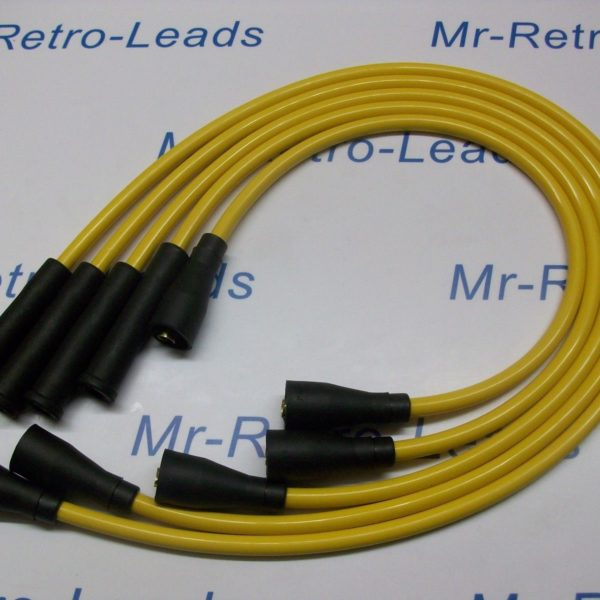 Yellow 8mm Performance Ignition Leads Fits Fiat 131 Quality Hand Built Ht Leads