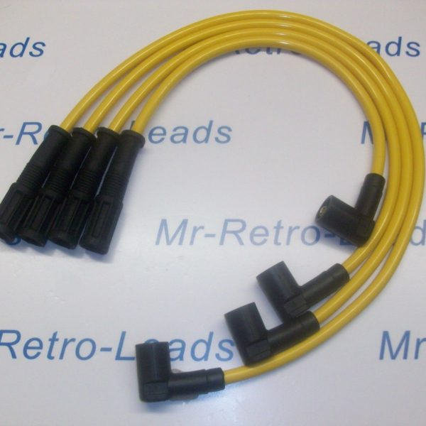 Yellow 8mm Performance Ignition Leads Fiat Cinquecento Seicento 1.1 Sporting Ht