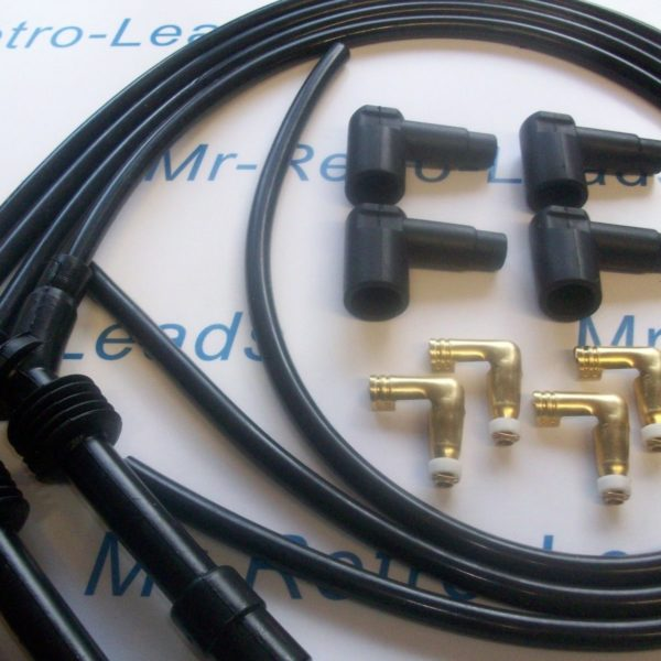 Black 8mm Performance Ignition Lead Kit C20xe 2.0 Vauxhall Astra Cavalier Racing