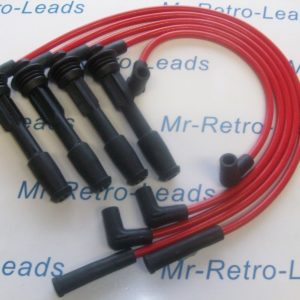 Red 8mm Performance Ignition Leads Williams Renault 19 Clio 2.0i 1.8i 1.7i 16v