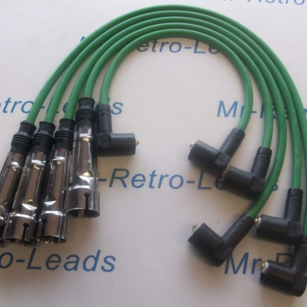 Green 8mm Performance Ignition Leads For Vw Polo 1.4 Quality Leads M4 Fitment