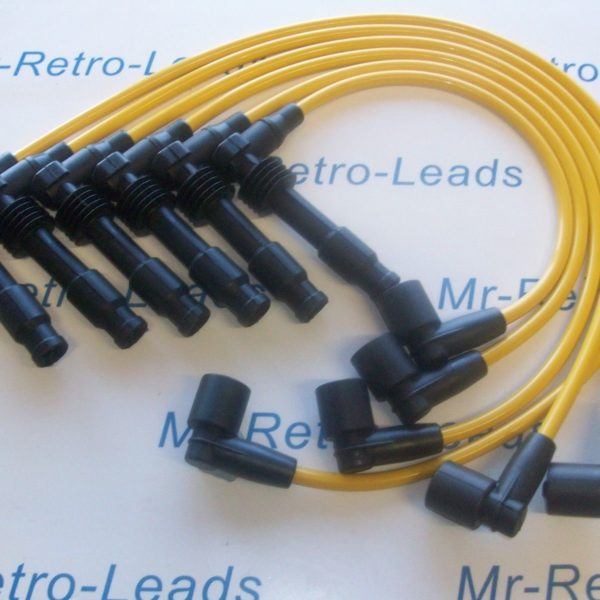 Yellow 8mm Performance Ignition Leads For Vauxhall Opel Omega V6 M4 Pin Coil..